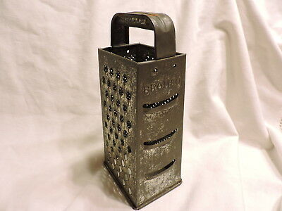 Vintage Bromco 4 Sided Kitchen Grater- Rounded Handle Older Model 9""