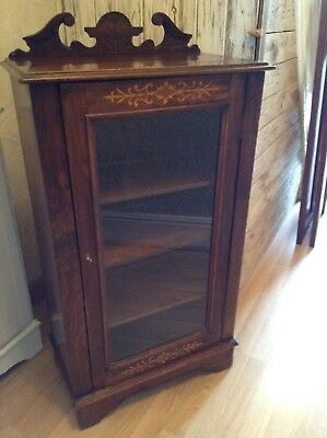 Antique Edwardian Mahogany Inlaid Pier Display Cabinet. Delivery Available.