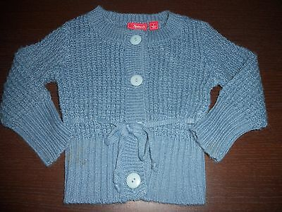 Baby girls Sprout wool blend cardigan with tie at the front size 1