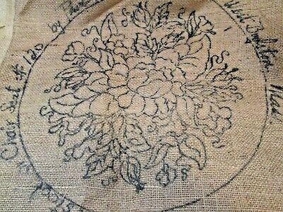 Vintage Pearl Mcgown Rug Hook Burlap Canvases  6 Matching Chair Pads Nos