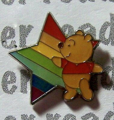 Disney Pin JDS Rainbow Mini Pooh Rainbow Star
