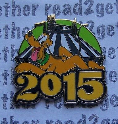 Disney Pin 2015 Pluto and Space Mountain Starter