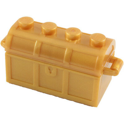 Lego Complete Assembly Treasure Chest W/ Thick Hinge,Slots In Back + Gift - New
