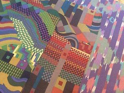 """Collier Campbell Bauhaus & Spice Route vintage Liberty of London fabric 3@25""""sq"""