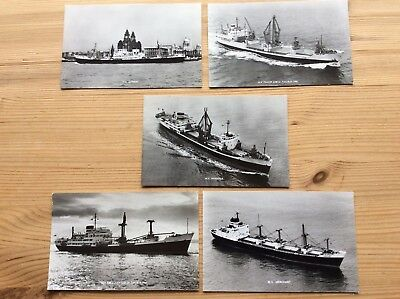 5 Company Cards Of Harrison Line Vessels