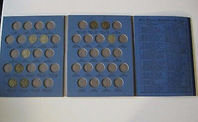 U. S. Jefferson Nickel Collector's Book Whitman 1940 1945 S coin folder USA old