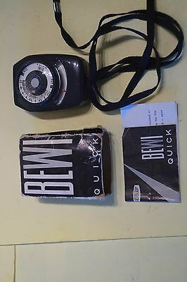 Bewi West German exposure meter w box and instructions