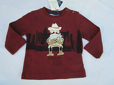 Baby boys cute  Pumpkin Patch  0-3mths  Sheriff  long sleeve Tee  Size 000