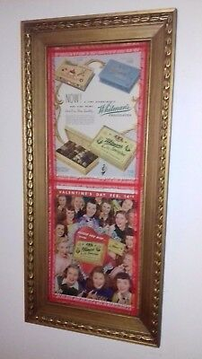 Saturday Evening Post Whitman's Chocolate 1940's Valentine's Day Ads Framed