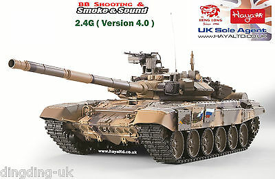 Heng long Radio Remote Control 1/16 RC Tank T90 with 2 sounds 2.4G UK