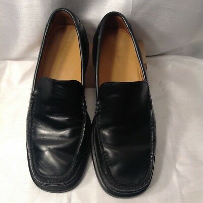 59787c60651 COLE HAAN SANTA Barbara 07186 Black Leather Moc Loafers Mens 10.5W WIDE -   32.00