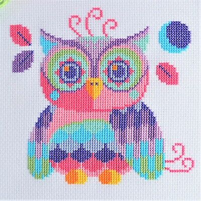 Cross Stitch Kit Florence the Owl Modern Design on 14 Count with DMC Threads