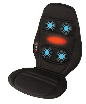 HoMedics Vibration Comfort Massage Chair with Heat and Car Adaptor Work Home NEW