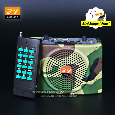 38W Speaker Outdoor Hunting Bird Caller Predator Decoy MP3 Player 888 Bird Songs