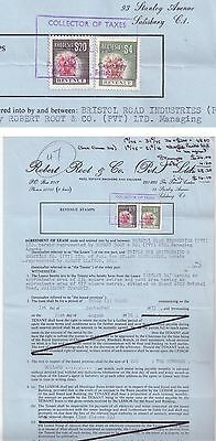 Rhodesia - 1973 - Document with Revenue - Stamps $20 and $4