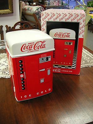 """Drink Coca-Cola In Bottles 1995 Coolie Jar Mint in Box 10 3/4"""" Tall - #99"""