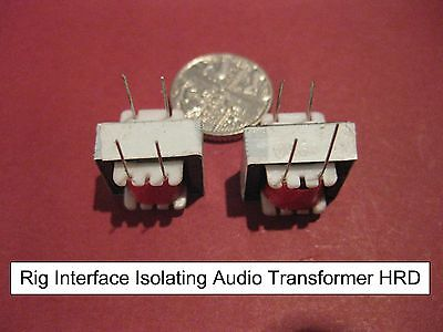 Pair Audio Isolation Transformers Rig PC Interface Digimode PSK31 RTTY Datamode