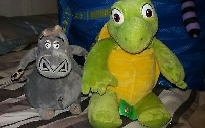 Verne the Turtle from Over the Hedge soft plush toy & hippo from madagascar