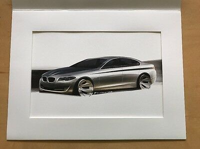 BMW 3 SERIES 328i Xdrive COLOR RENDITION SKETCH CONCEPT DRAWING 9X12