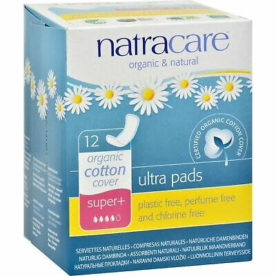 Natracare Natural Ultra Pads Organic Cotton Cover - Super Plus - 12 Pack