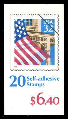 "US #BK228 32¢ Flag over Porch Pl 55556 ""Bone Marrow"" back cover 2921a VF NH MNH"