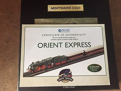 Atlas Editions - Orient Express Z gauge 1/220 Die-cast model New And Sealed.