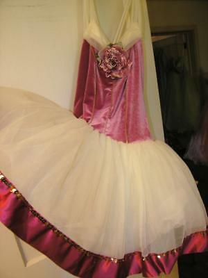 Curtain Call Dance Costume Body Suit Large adult sz  lg ALA 38-31-42 PINK