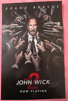 John Wick Chapter 2 Movie Promo Poster 2017 Fan Expo Comic Con Keanu Reeves
