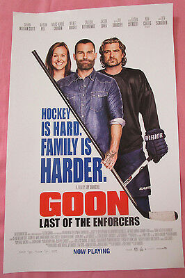 Goon Last Of The Enforcers Movie Promo Poster 2017 Fan Expo Comic Con Hockey
