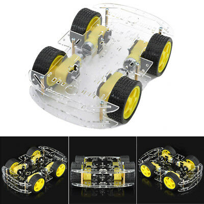 DIY DC 4WD Smart Robot Car Chassis Kit With Magneto Speed Encoder For Arduino 51