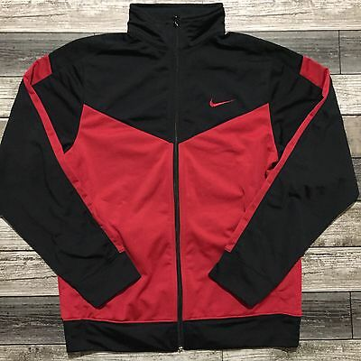 Nike Youth Full Zip Black And Red Bred Athletic Track Jacket Size XL