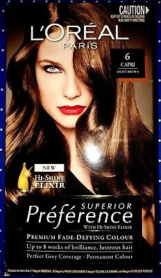 Loreal Superior Preference Permanent Hair Colour #6 Capri Light Brown