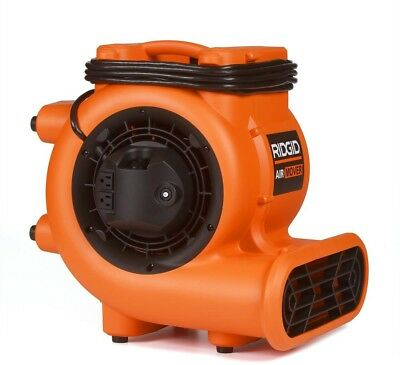 High-Velocity 1625-CFM Blower Fan Air Mover Floor/Carpet Commercial Drying RIGID