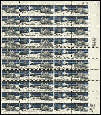 US #1434-1435 1435b 8¢ Space Achievement Decade Sheet of 50 VF NH MNH