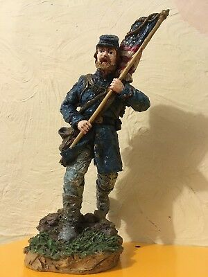 Large American Civil War Running Man with Flag Figure Ornament PPL 1995