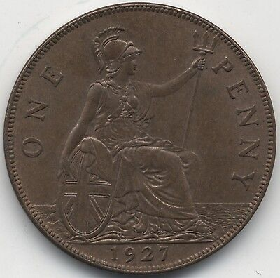 1927 George V One Penny***High Grade***Collectors***