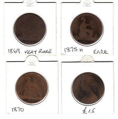 Collectable Low Grade Rare Key Date Victoria One Penny Coins***Collectors***