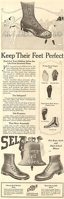 Antique Liberty Bell Shoes PERFECT FEET Children's Foot Footwear Playground Ad