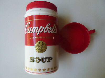 1998 Campbell Soup Cantainer 11.5 ounce Insulated Container Thermos 3 piece Set