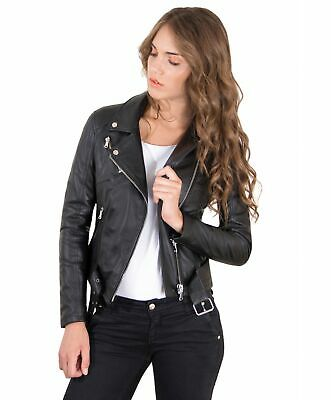 low priced f0c8f 60b3c GIACCA IN PELLE donna CHIODO • colore nero • giacca biker in pelle con  cintura n