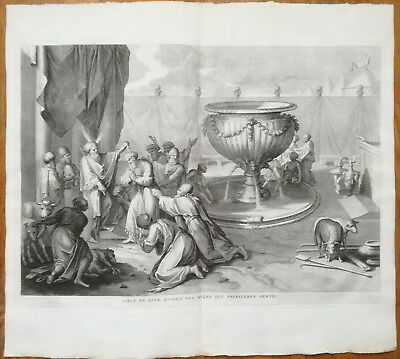 Calmet Large Engraving Moses and Aaron - 1725