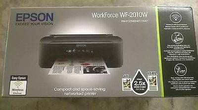New Inkjet Epson Printer Workforce Wf-2010W With Inks Was £67.50 Reduced £42.50
