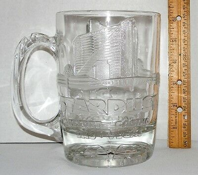 Stardust Resort & Casino Las Vegas Ornate Graphics Relief (3D) Heavy Glass Mug