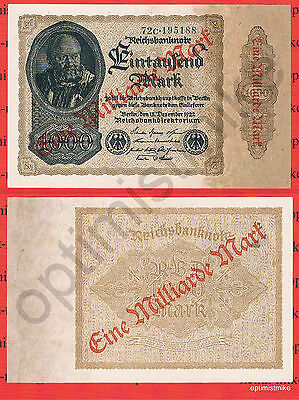 1 Mrd. Mark UNC Ros. F110 e Pick 113 Germany Inflation
