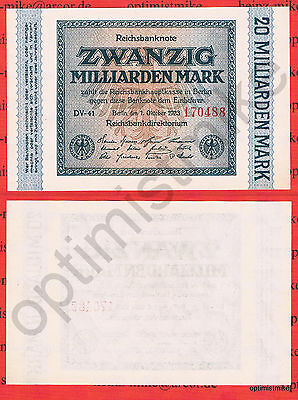 20 Mrd. Mark UNC Ros.115 b Pick 118 a Germany Inflation