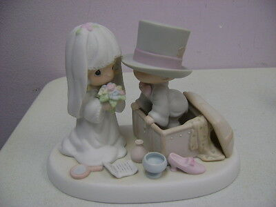 Bridal Precious Moments Bride+Groom  Heaven Bless Your Togetherness # 106755