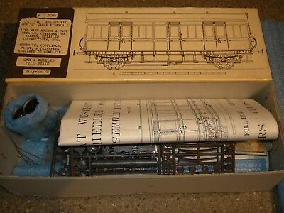 O Gauge Slaters Kit GWR 4 Wheeled Brake Van (Diagram V5) Ref 7C05