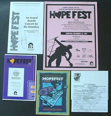 Chicago Blues Hopefest Memorabilia Concert For The Homeless Bo Diddley