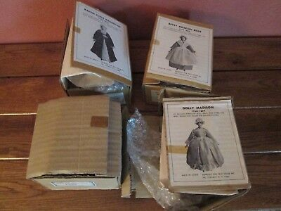 Lot of 4 Vintage Looking DOLL KITS Most by YIELD HOUSE Dolly Madison Martha Wash
