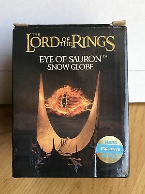 The Lord of the Rings: Eye of Sauron Snow Globe - Nerd Block Exclusive